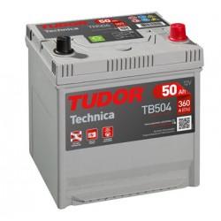 Batería de coche TUDOR Technica. 50Ah-450EN-Modelo TB501