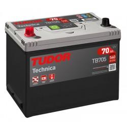Batería de coche 4x4 TUDOR Technica. 70Ah-540EN-Modelo TB704